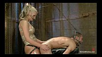 Dangerously gorgeous dom playing nasty with a m...