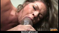 Mature Mom b arely takes 10 inch Black Cock 15