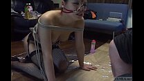 Subtitled mixed Japanese BDSM on a leash with a...