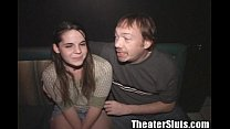Theater Slut April Hippie Girl Public Group Sex Bang