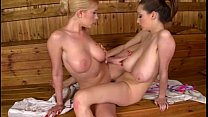 Lucie wilde and dona bell - sauna spectacle