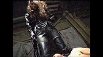 asian femdom full leather pants and jacket tram...