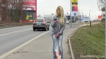 Bursting To Pee In Public, Pretty Young Girl Ca...