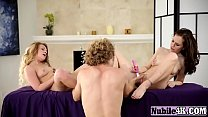 Couple of hot bitches toy their pussies before guy joins themd-her-mom - download porn videos