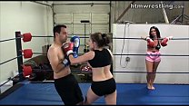 Femdom Boxing Beatdowns - Wimp Gets Dominated Thumbnail