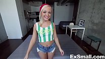 Beautiful Girl with a Tiny Waist Gets Rammed