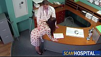 Hot brunette Sabina gets fucked by her doctor f...