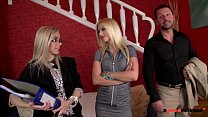 Slutty real estate agent fucks her clients to s...