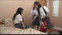 schoolgirls playing their friends pussy