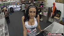 Gorgeous latina love huge meat for her juicy pussy
