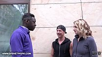 Picked up black guy to fuck me and boyfriend wa...