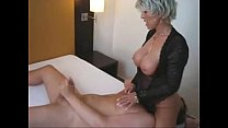 Milf gives handjob and receives oral sex