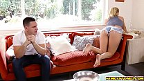 Step bros big cock swallowed by Natalia deep th...