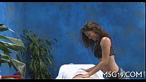 Hot sweetheart massages dick with lips thumb