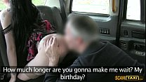 pervy cab driver creams alessas tight pussy in the backseat