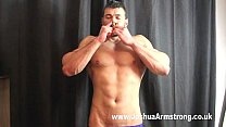 Alpha smoking hunk dominates with poppers breath control