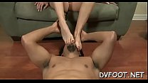 Gal gets her feet licked in hd quality on footd...