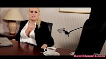 Bigtit eurobabe interracial assfucked on desk