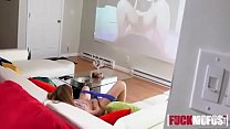 Miley cole in roomie watches kinky porn hd