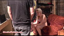Sexy 18yo blondie shows her body at the first C...