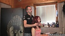 Sadie Kennedy giving a deepthroat and riding her friend's rod  233191