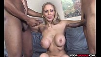 sexy hotwife julia ann gets fucked by bbcs while cuckold watchingtching