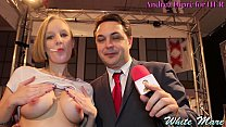 White Mare shows her tits for Andrea Diprè