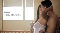 nubile films   bigtit hottie holly michaels cums on her mans tongue
