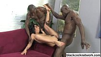 Interracial anal with 2 big black cocks