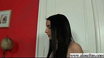 Alone horny girl please herself with stuffs clip-27