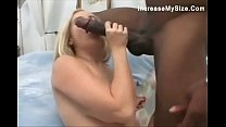 See her take the monster black cock in her ass thumb