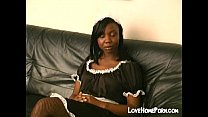 spanked hard gets maid Black