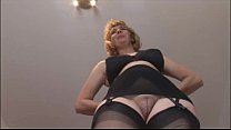 onde babe in stockings and open girdle