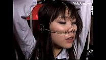 Schoolgirl In Uniform With Pignose Tied To Bedf...