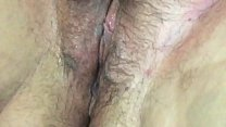 Hairy wet pussy playing horny girl grool