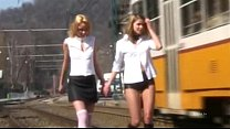 Two young and pretty brats are punished and fuc...