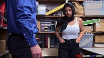 Muslim teen with huge tits busted stealing from... Thumbnail