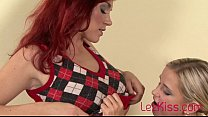 Redhead making passionate love to blonde girlfr... Thumbnail