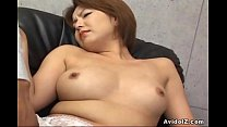 Japanese babe gets her haiy pussy fingered Unce...
