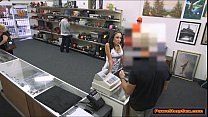 Sexy latina gets nailed by Pawnshop owner in hi...