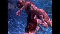 Two stunning lesbian girls make love under water!