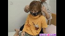 Yuu Katagiri nailed in mouth and pussy