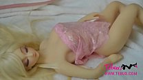 Young and small realistic Blond sex doll