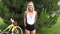 Amateur Teen Kenzie POV fuck in public bike room