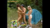 Anal camping with two teen sluts