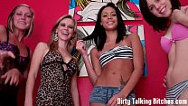 Four hot girls want to watch you jerk off JOI thumb