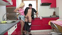 cock man's her riding mother sees and in comes wife folla