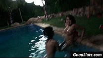 sex in the pool during summer night