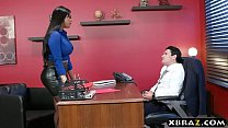 Headhunter is a very persuasive latina MILF wit...