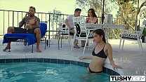 TUSHY Girlfriend Gets Dominated By Power Couple... Thumbnail